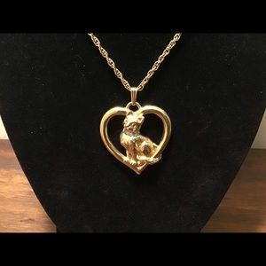 Vintage Avon Gold Heart Necklace